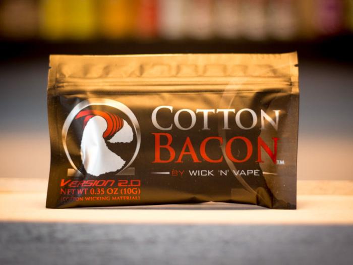 wick n vape cotton bacon watte