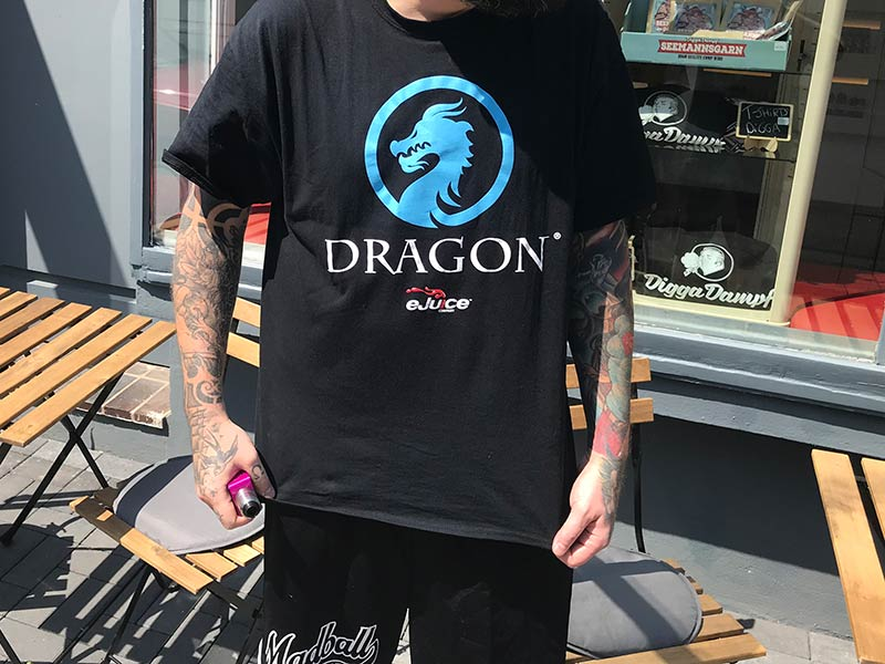 t-shirt blue dragon ejuice company